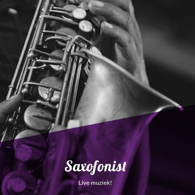 Saxofonist live muziek Dj Bruiloft